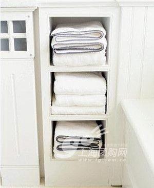 卫浴收纳别出心裁:毛巾摆放的新规则